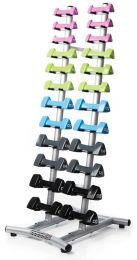 ESCAPE HAND-WEIGHT RACK (12 PAIRS - SILVER)