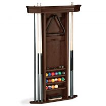 HERITAGE CUE RACK WALL-CHESTNUT